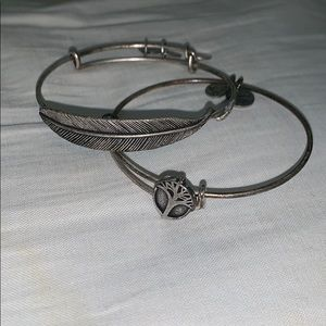 Feather and Tree Alex and Ani Bracelets